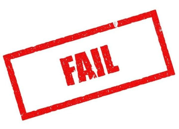 Social Media Mistakes - images showing a fail sign