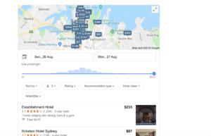 hotel google search